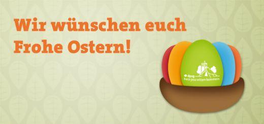 Wir wünschen euch frohe Ostern! Die Pfadinder DPSG Herz-Jesu Witten-Bommern.